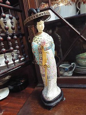 Vintage Cloisonne Guan/quan/kwan-Yin Figurine Small Statue Nr