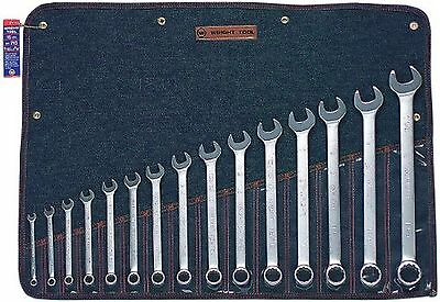 "Wright Tool 715 12 Point Combination Wrench Set, 5/16""-1-1/4"" (15-Piece)"