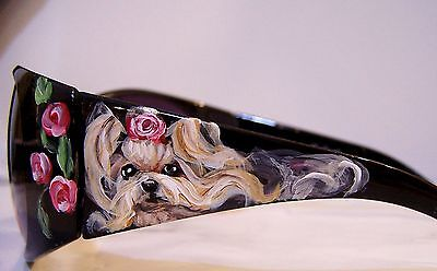 Yorkshire terrier hand painted special  sunglasses original dog art gift