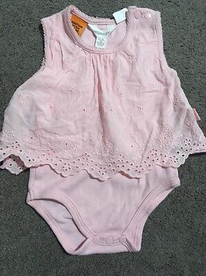Baby Girls Short Sleeve Pumpkin Patch Romper Size 0-3 Months EUC