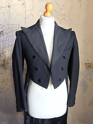 Vintage 1940's White Tie Evening Tails Coat  Size 38 (WT76)