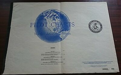 North Atlantic Ocean Mexico Pilot Chart Weather Information  Rare Collectables
