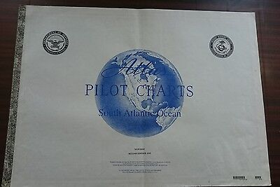 South Atlantic Ocean Pilot Chart Weather Information  Rare Collectables