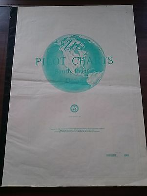 South Pacific Ocean Pilot Chart Weather Information  Rare Collectables
