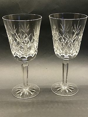 "2 Lenox Crystal Charleston 7.5"" Water Goblets Excellent Used Condition No Damage"