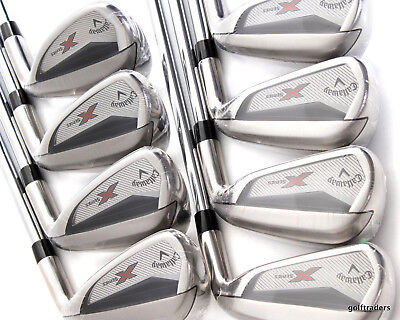 Callaway N415 X Series Irons 4-Pw, Sw Steel Uniflex - New - #d5622