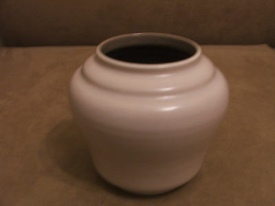 50's VINTAGE RETRO POOLE POTTERY TWINTONE MEDIUM VASE EXCELLENT CONDITION