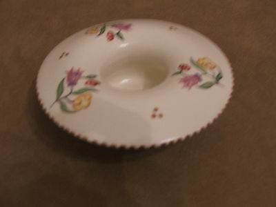 30's VINTAGE POOLE POTTERY HAND PAINTED SMALL MUSHROOM POSY BOWL GREAT CONDITION