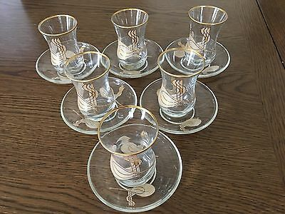 New Turkish Tea Glasses Set Of 6, 12 Pieces