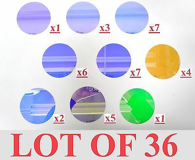 "Lot 36 Lighting Dichroic Lens Glass Filter Stage Theatre Light 3.875"" 98Mm"