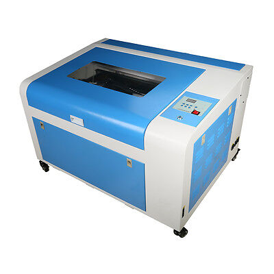 50W CO2 Laser Engraving Machine Engraver Cutter Auxiliary Rotary Device 600*400