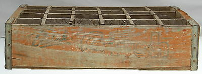 "Vintage ORANGE CRUSH Wood Soda Crate 12"" X 18"""
