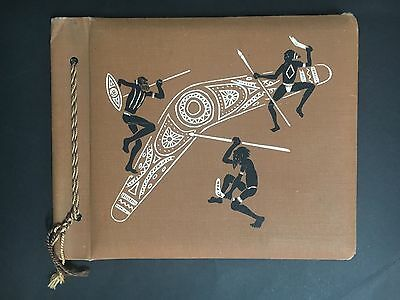 INDIGENOUS COVER 1950's SWAP CARD ALBUM
