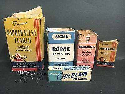 VINTAGE AUSTRALIAN PRODUCTS PACKAGING LOT OF BOXES FROM 50's/60's