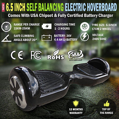 NEW 6.5 Inch Smart Self Balancing Electric Balance Scooter 2 Wheels Hoverboard