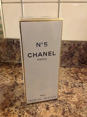 CHANEL NO 5 , LARGE SIZE TALC, BODY POWDER,150g BRAND NEW RARE, HIGHLY SCENTED.