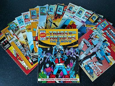 Transformers Collected Comics G1 bundle Issue 1 movie etc