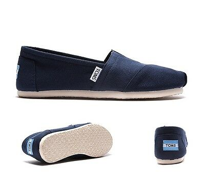 Womens Toms Classic Slip On Navy Shoes RRP £34.99 (PRFW1.)