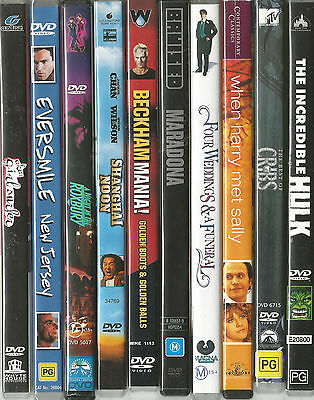 15 x Family Mixed  DVD's.... Region 4 in used Good Condition ( Lot # 6 )