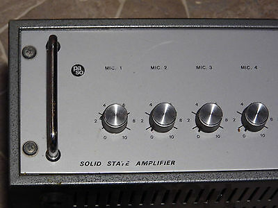 Vintage Paso t120-tr Solid State 170W Power Amplifier Amplifier Italy 1980`