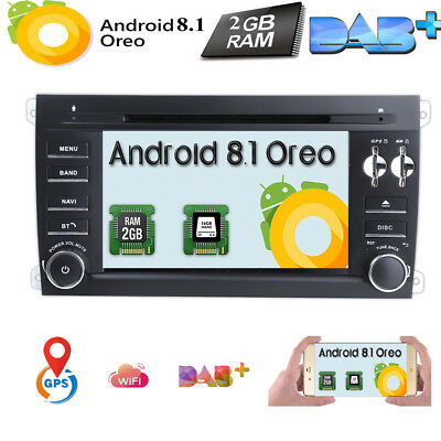 7'' Quad core Android 7.1 Car DVD Player Radio GPS For Porsche Cayenne 2003-2010