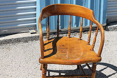 Rare Maple Low-back Windsor Armchair