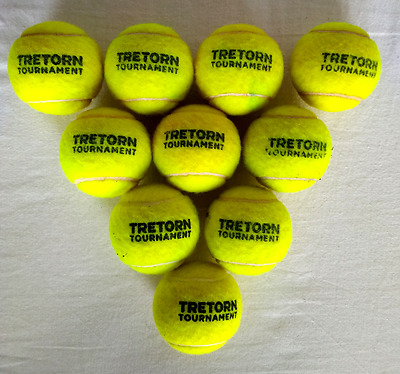 10 Palline da Tennis Tretorn Tournament - come nuove