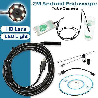 Endoscope Camera 5.5MM 6 LED Android Bore-scope Waterproof Inspection Video-2M