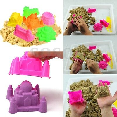 6pcs Portable Kinetic Castle Sand Mold Baby Kids Educational Mould Beach Toy