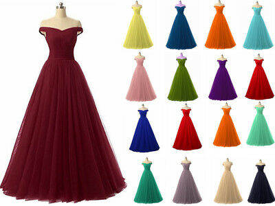 Hot Chiffon Long Prom Dress Bridesmaid Wedding Evening Formal Party Ball Gown