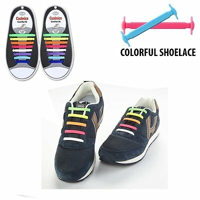 Hickies Elastic Responsive Lacing System 16 No Tie Laces Various Colors Sports