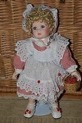 "Beautiful Porcelain Doll ""The Dolls House Doll Collection"" 42cm tall"
