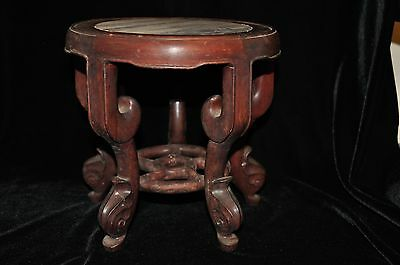 Vintage Chinese Carved Hardwood Stand