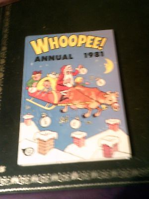 Whoopee  Annual 1981, UK Annual,  Book Published in 1980, Vintage Book