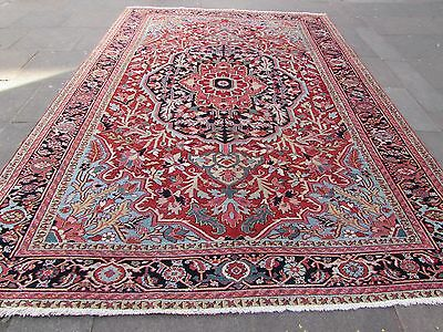 Antique Traditional Persian Wool Red Oriental Hand Made Big Carpet Rug 373x260cm