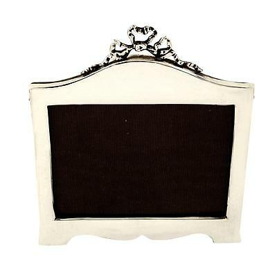 Antique Edwardian Sterling Silver Bow/ribbon Photo Frame - 1908