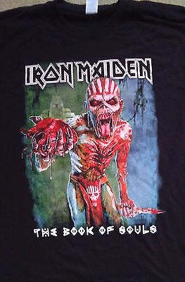Iron Maiden book of souls tour shirt 2017.Size medium.