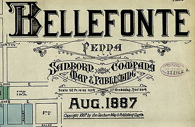 Bellefonte, Pennsylvania~Sanborn Map©~1887 with 8 maps in full color