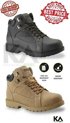 Soft Toe Work Boots Men's Shoes Safe Slip Resistant Comfortable Texas Steer NEW