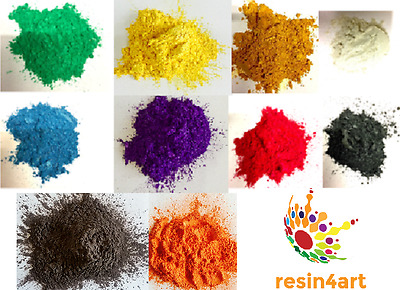 Metallic Colour Pigments for Epoxy Resin: 10 beautiful colours [25g each]