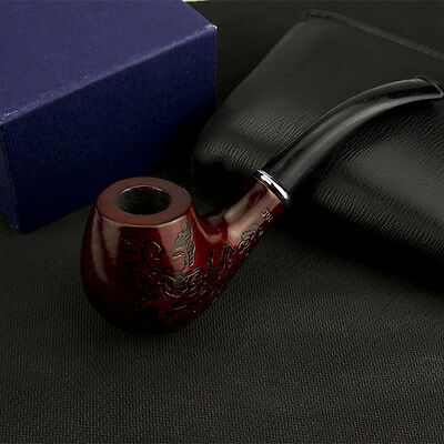 New Hot Wooden Enchase Smoking Pipe Tobacco Cigarettes Cigar Pipes Gift Durable