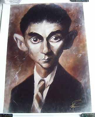 Derren Brown Signed Limited Edition Print of Franz Kafka