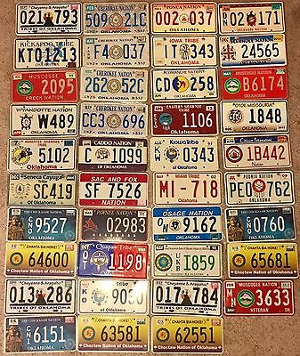 My Entire Oklahoma Tribal License Plate Collection Plates 39 Total Plates