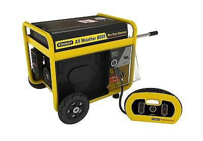 Stanley G8000S-CAN 8000-watt All Weather Generator Black and Yellow