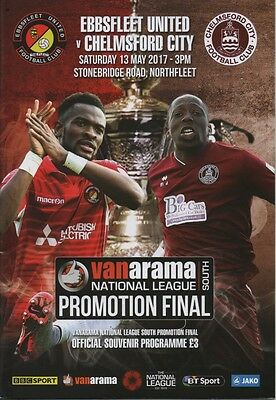 16/17 Ebbsfleet United v Chelmsford City (Vanarama Promotion Final)