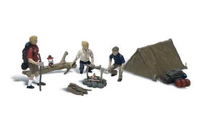 Woodland Scenics A2199 Going Camping Figures Set (Pk8) N Gauge