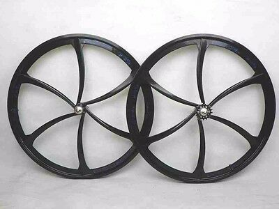 700C Alloy 6 spokes road bike wheels / bicycle flip flop hub wheelset black