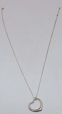 Beautiful 925 Sterling Silver Heart Pendant Necklace