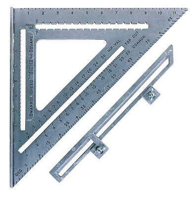 Swanson Big 12 Speed Square with Layout Bar Miter Square Angle Finder
