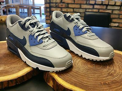 NIKE AIR MAX 90 YOUTH(GS) Size 6Y white/blue lt blue/silver
